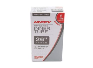 Huffy 26in Bicycle Inner Tube with Two Tire Levers