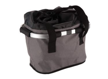 Huffy Foldable Solid Bicycle Basket, Gray