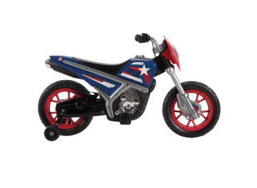 Marvel® Captain America® Battery-Powered Ride-On Motorcycle, 6V