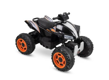 Kids Electric Battery-Powered Ride-On ATV Truck w/ Lights, Sounds & MP3 Player, Black