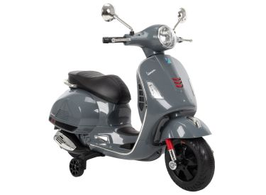 Vespa Kid Electric Ride-On Scooter Grey, 6V