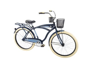 Deluxe™ Men's Cruiser Bike, Dark Blue, 26-inch