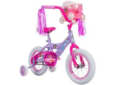 Disney Princess Girls' Bike, Purple, 12-inch