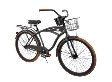 Nel Lusso™ Men's Cruiser Bike, Charcoal Black, 26-inch