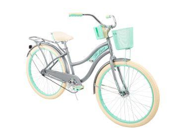 Nel Lusso™ Women's Cruiser Bike, Silver, 26-inch