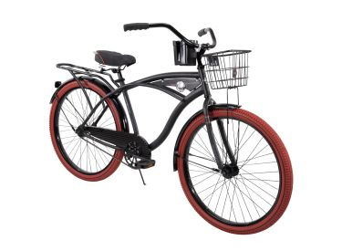 Nel Lusso™ Men's Cruiser Bike, Black, 26-inch