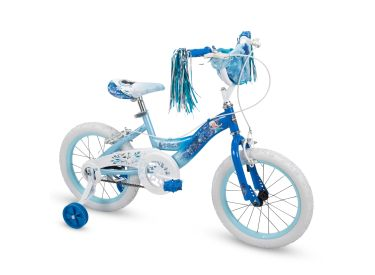 Disney Frozen Girls' Bike, Basket, Blue, 16-inch