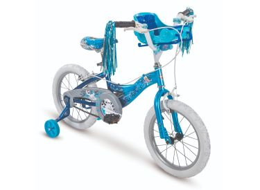 Disney Frozen Girls' Bike, Doll Carrier, Blue, 16-inch