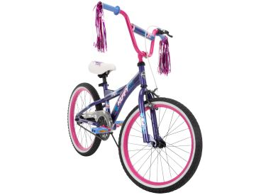 Go Girl Kid Bike Quick Assembly 20 inch Purple