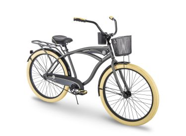 Holbrook™ Men's Cruiser Bike, Charcoal, 26-inch