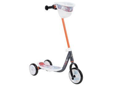 Disney Frozen 2 Olaf Preschool Scooter, Handlebar Bin, Three Wheels & Wide Deck