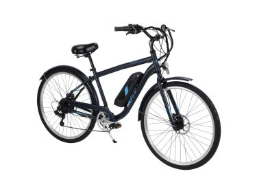 "Huffy Everett 27.5"" Electric Bike for Adults, Blue"