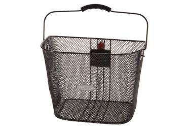 Huffy Steel Mesh Bicycle Basket, Black