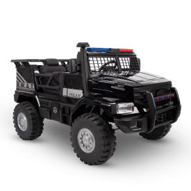 SWAT Truck Battery Ride-On Police Car Toy, 12V