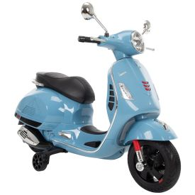 Vespa Kid Electric Ride-On Scooter Blue, 6V