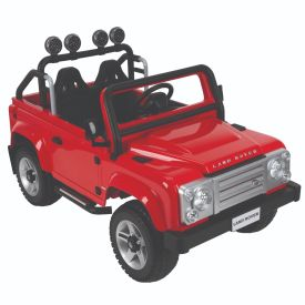 Land Rover Defender Electric Ride-On Red Car for Kids,  12V