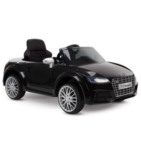 Audi TT S Roadster Battery Ride-On Car for Kids, Black, 12V