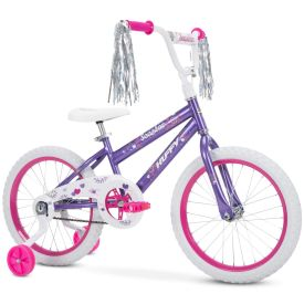 purple girls bike by Huffy