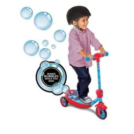Marvel® Spider-Man® Boys' Battery-Powered Ride-On Scooter, Bubbles, 6V