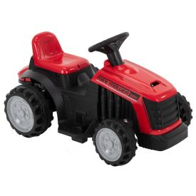 Electric Tractor Ride-On Toy with Bubbles for Kids 12V, Red