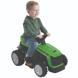 Electric Tractor Ride-On Toy with Bubbles for Kids, 12V