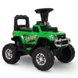 RC Monster Truck Battery-Powered Ride-On Toy, 12V, Green