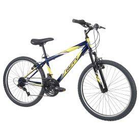 Incline™ Men's Mountain Bike, Blue and Yellow, 24-inch