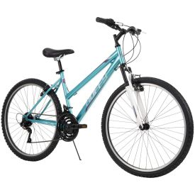 Women's bright blue color 26-inch mountain bike with 18-Speeds