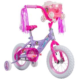 Disney Princess Girls' Bike, Purple, 12-inch