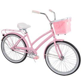 Nassau Women's Cruiser Bike, Light Pink, 24-inch