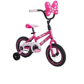 Disney Minnie Girls' EZ Build Bike, Pink, 12-inch
