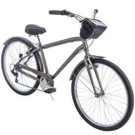 Parkside™ Men's 7-Speed Comfort Bike, Charcoal, 27.5-inch