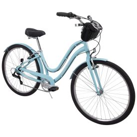 Parkside™ Women's 7-Speed Comfort Bike, Blue, 27.5-inch