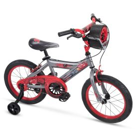 "Disney Cars Kid Bike Quick Connect Assembly, Tire Case Storage & Training Wheels, 16"" Grey"