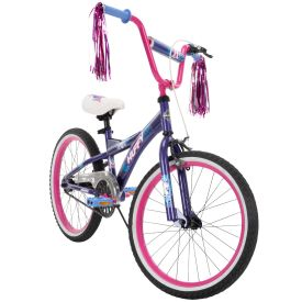 Go Girl Kid Bike Quick Assembly 20 inch Purple