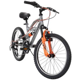 Valcon Kids' Quick Assembly Bike, Gray, 20-inch