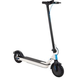 Huffy 36V Electric Folding Kick Scooter for Adults, Blue and White