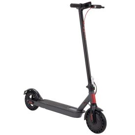 Huffy 36V Electric Folding Kick Scooter for Adults, Red and Black