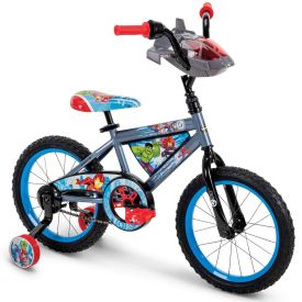 Marvel Avengers Boys' EZ Build Bike, Silver, 16-inch