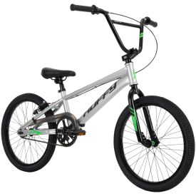BMX Race Bike in silver with black features