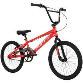 Gloss red BMX-race bike has a striking appearance