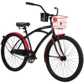 "Black 26"" men's Carlisle cruiser bike"