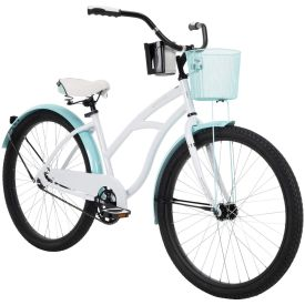 "26"" Carlisle women's cruiser bike in white"