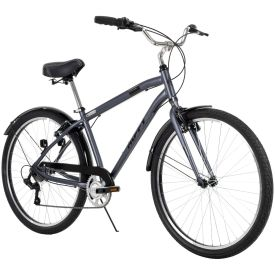 Gray comfort bike with 7-speeds