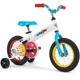 Grow 2 Go Kids' Bike, Blue and Red, 12-inch