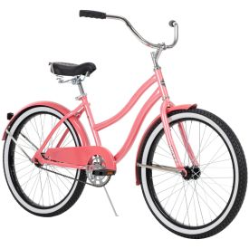 "24"" women's coral pink Cranbrook cruiser bike"