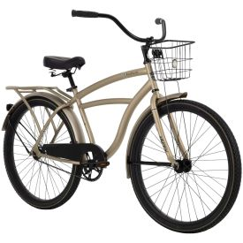 Men's beach cruiser in matte brown with black features