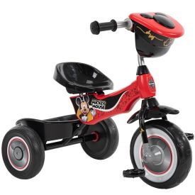 Disney Mickey Kids' 3-Wheel Tricycle, Red and Black