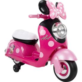 Disney Minnie Electric Ride-On European Scooter, Pink, 6V