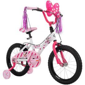 "16"" Disney Minnie bike with handlebar streamers"